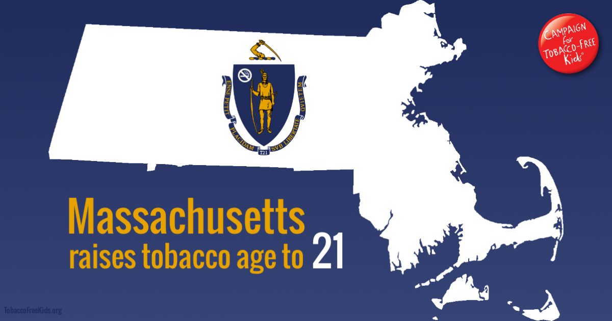 Massachusetts Becomes Sixth State to Raise Tobacco Age to 21