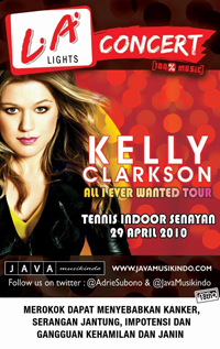 Kelly Clarkson LA Lights Concert Poster