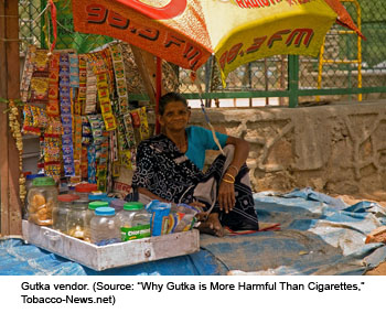 Image of a gutka vendor (Source: