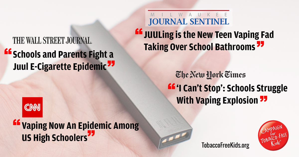 Juul E-Cigarettes: Fueling A Youth Epidemic - Campaign for Tobacco